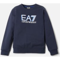 Emporio Armani EA7 Boys' Large Logo Sweatshirt - Navy - 8 Years