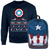 Captain America Christmas Bundle - Men's - S - Navy