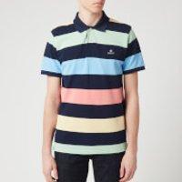 GANT Men's Barstripe Pique Short Sleeve Rugger Polo Shirt - Multicolour - S