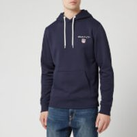 GANT Mens Medium Shield Hoody - Evening Blue - S