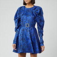 ROTATE Birger Christensen Women's Tara Taffetta Mini Dress - Dazzling Blue - DK 40/UK 14