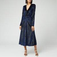 ROTATE Birger Christensen Women's Number 7 Velvet Dress - Twilight Blue - L