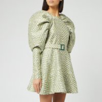 ROTATE Birger Christensen Women's Tara Jacquard Dress - Canary Yellow - DK 40/UK 14