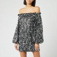 ROTATE Birger Christensen Women's Gloria Sequin Dress - Black Silver - XS