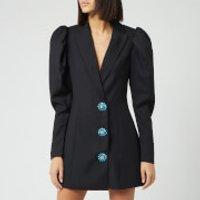 ROTATE Birger Christensen Women's Carol Plain Mini Dress - Pirate Black - DK 34/UK 8