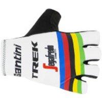 Santini Trek Segafredo 2019 World Champion Gloves - White - XL