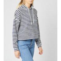 Tommy Jeans Women's TJW Stripe Hoody - Twilight Navy/White - M