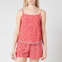 Tommy Jeans Women's TJW Embroidery Strap Top - Floral Print/Deep Crimson - M