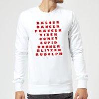 Reindeer Line Up Sweatshirt - White - XXL - White