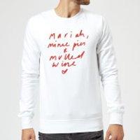 Mariah, Mince Pies & Mulled Wine Sweatshirt - White - XXL - White - Mulled Wine Gifts