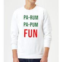 Pa-Rum Pa-Pum Fun Sweatshirt - White - XXL - White - Fun Gifts