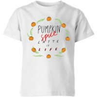 Pumpkin Spice Latte Is Life Kids' T-Shirt - White - 5-6 Years - White - Pumpkin Gifts