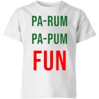 Pa-Rum Pa-Pum Fun Kids' T-Shirt - White - 11-12 Years - White - Fun Gifts