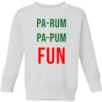 Pa-Rum Pa-Pum Fun Kids' Sweatshirt - White - 11-12 Years - White - Fun Gifts