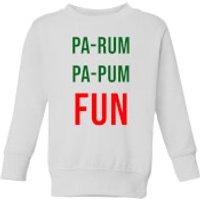 Pa-Rum Pa-Pum Fun Kids' Sweatshirt - White - 9-10 Years - White - Fun Gifts