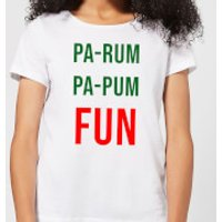 Pa-Rum Pa-Pum Fun Women's T-Shirt - White - L - White - Fun Gifts