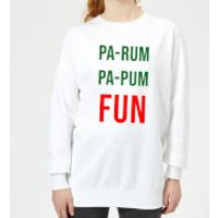 Pa-Rum Pa-Pum Fun Women's Sweatshirt - White - M - White - Fun Gifts