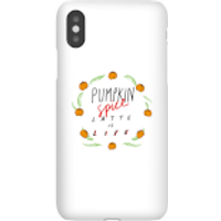 Pumpkin Spice Latte Is Life Phone Case for iPhone and Android - Samsung S7 Edge - Snap Case - Matte - Pumpkin Gifts