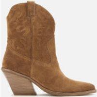 Bronx Women's Low Kole Suede Western Boots - Cognac - UK 8