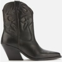 Bronx Women's Low Kole Leather Western Boots - Black - UK 5