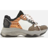 Bronx Women's Baisley Chunky Trainers - Dark Grey/White/Black/Orange - UK 8