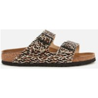 Birkenstock Women's Arizona Leopard Print Double Strap Sandals - Tan - EU 39/UK 5.5
