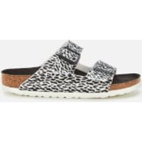Birkenstock Women's Arizona Leopard Print Double Strap Sandals - Black/White - EU 40/UK 7