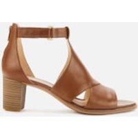 Clarks Women's Kaylin 60 Glad Leather Heeled Sandals - Tan - UK 6