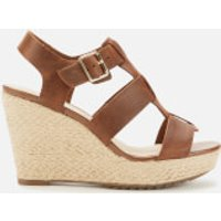 Clarks Women's Maritsa95 Glad Leather Wedged Sandals - Tan - UK 3