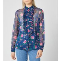 Philosophy di Lorenzo Serafini Women's Fantasy Print Blouse - Blue - IT 42/UK 10