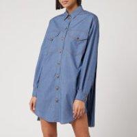 Philosophy di Lorenzo Serafini Women's Denim Shirt Dress - Blue - IT 44/UK 12