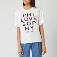 Philosophy di Lorenzo Serafini Women's Sequin Love Logo T-Shirt - White - XS