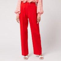 Stine Goya Women's Chet Twill Trousers - Red - S