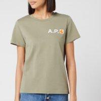 A.P.C. X Carhartt Women's Fire T-Shirt - Khaki - XS