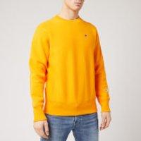Champion Men's Logo Crew Neck Sweatshirt - Yellow - L
