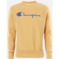Champion Men's Big Script Crew Neck Sweatshirt - Stone - L