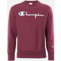 Champion Men's Big Script Crew Neck Sweatshirt - Burgundy - S