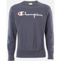 Champion Men's Big Script Crew Neck Sweatshirt - Grey - XL