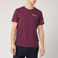Champion Men's Back Script Crew Neck T-Shirt - Burgundy - L