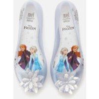 Mini Melissa Kids' Disney Frozen Ultragirl Ballet Flats - Iridescent Ice Flower - UK 10 Kids
