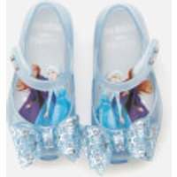 Mini Melissa Mini Melissa Toddlers' Disney Frozen Ultragirl Flats - Sky Glitter Frost Bow - UK 6 Toddler
