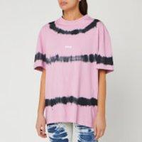 MSGM Women's Tie Dye T-Shirt - Pink/ Black - XS