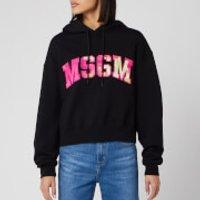 MSGM Women's Large Logo Hoodie - Black - S
