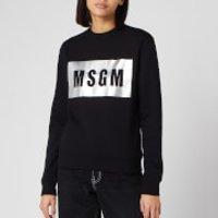 MSGM Women's Foil Logo Sweatshirt - Black - M