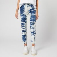 MSGM Women's Bleached Jeans - Blue/ White - W30