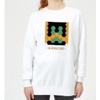 Blockbusters Stuck In The 80's Women's Sweatshirt - White - XXL - White - 80s Gifts