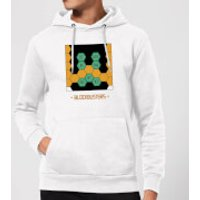 Blockbusters Stuck In The 80's Hoodie - White - XXL - White - 80s Gifts
