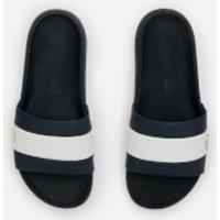 Lacoste Men's Croco Slide 120 Slide Sandals - Navy/White - UK 10
