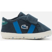 Lacoste Lacoste Babies Sideline Crib 120 Trainers - Navy/Green - UK 3 Baby