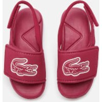 Lacoste Toddler's L.30 Strap 120 Slide Sandals - Dark Pink/White - UK 7 Toddler